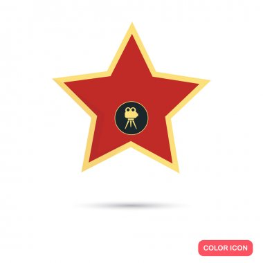 Star from the Walk of Fame color flat icon