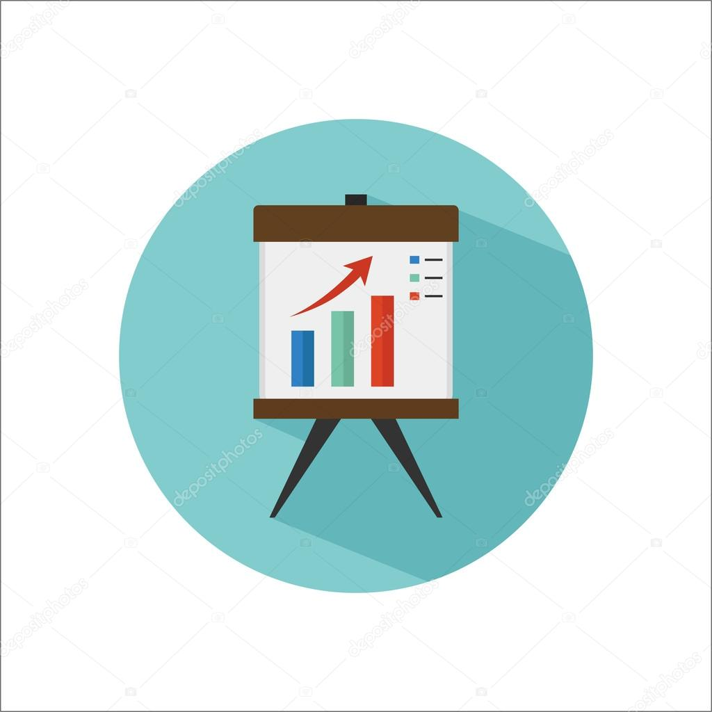 business presentation color flat icon stock vector lynxvector