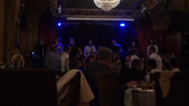 Odessa - Ukraine, Oct 13, 2015: People are dancing while having a good time together at a bar
