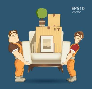 Movers work illustration