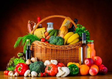 Healthy Eating. Organic Food, Vegetables and Fruits