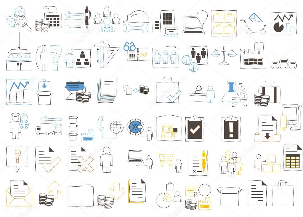 Modern icons set of corporate management and business leader training. Premium quality outline symbol collection pack. Stroke vector logo concept,web graphics. vector illustration