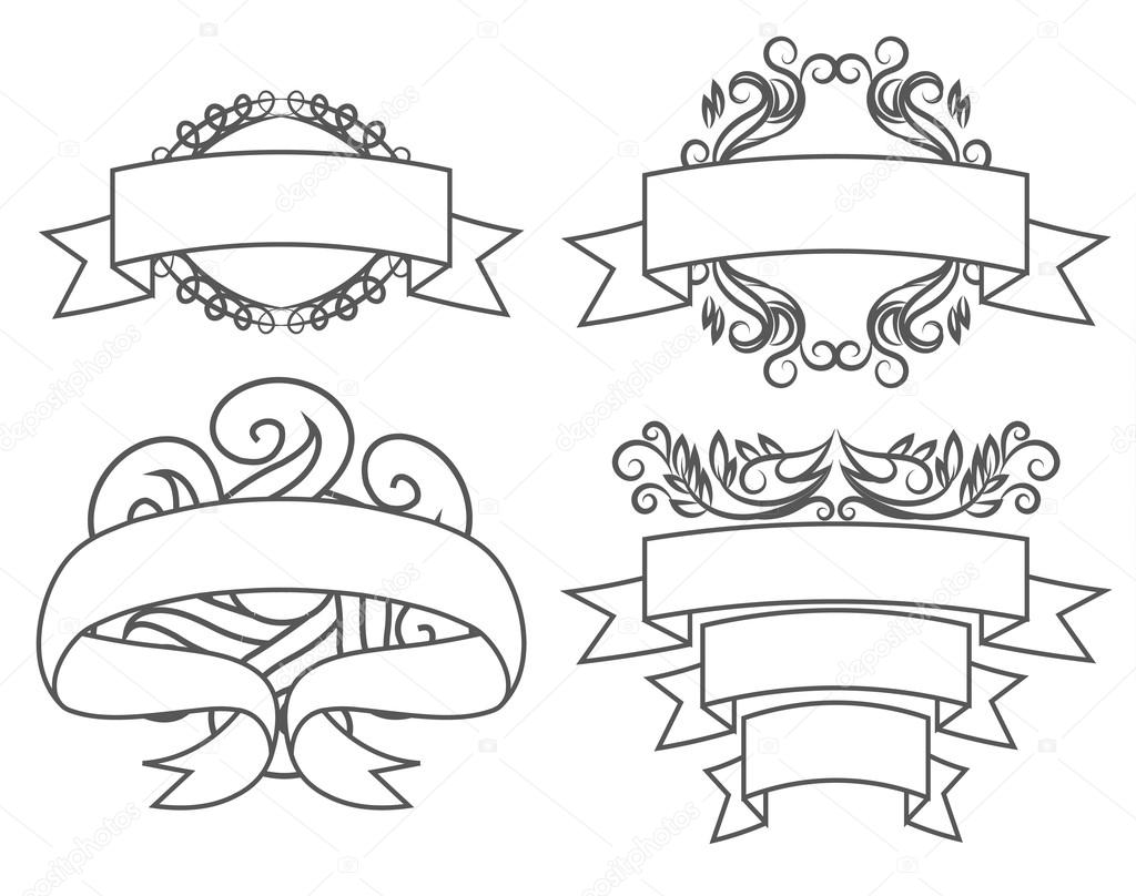 Vintage frames and scroll elements — Stock Vector © Profmailer.inbox ...