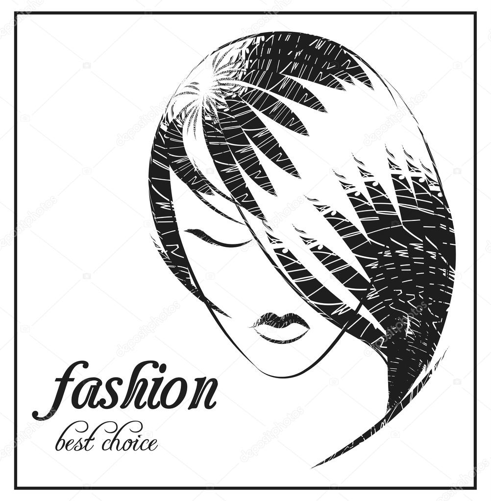 Vektor Mode Abbildung Mädchen, Bezeichnung für Website, Vorlage ...