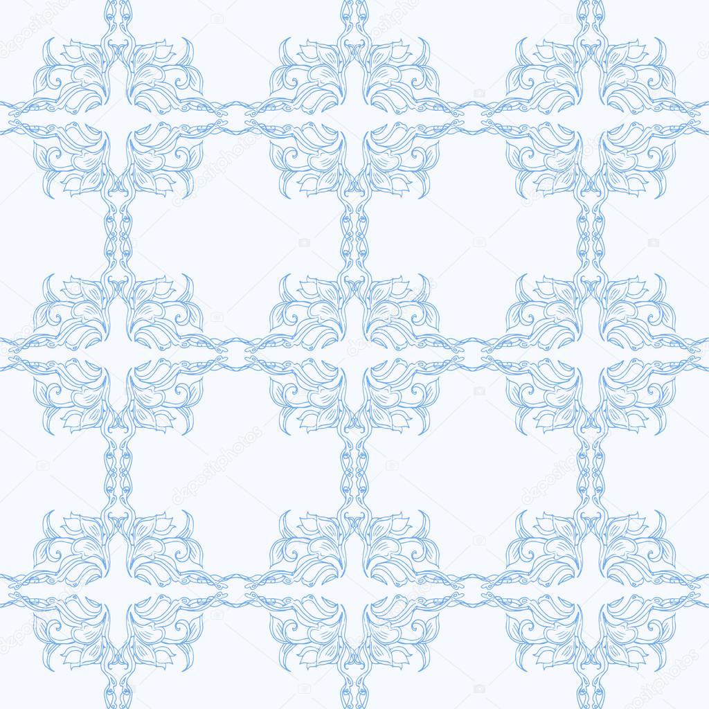 Tejer de patrones sin fisuras. tejido de lana azul. Fondo ...