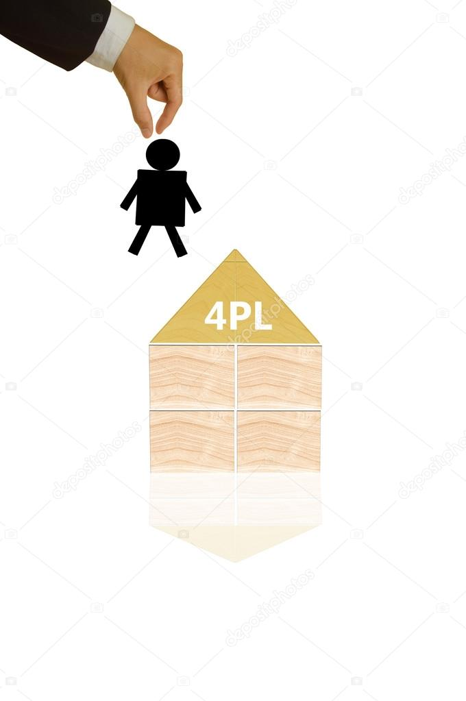 4PL or fourth party logistics - business concept — Stock