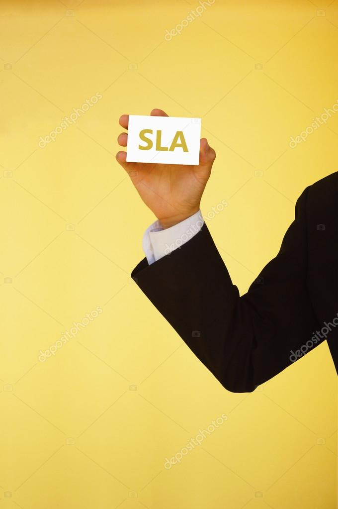 Sla Or Service Level Agreement Stock Photo Nakhonbatoail