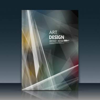 Abstract composition, white polygonal font texture, gray a4 brochure title sheet, creative figure, firm banner form, star, laser rays, starburst, outer space flyer fiber, neon matrix, EPS10 backdrop
