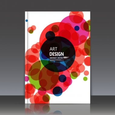 Abstract composition, text frame surface, white a4 brochure title sheet, creative figure, round logo sign construction, firm banner form, blue pink, orange circle icon, flyer fiber, EPS10 illustration