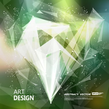 Abstract composition, green font texture, white cybernetic dot, title sequence, wallpaper, creative figure, intro banner form, star, point surface, outer space flyer fiber, neon matrix, EPS10 backdrop