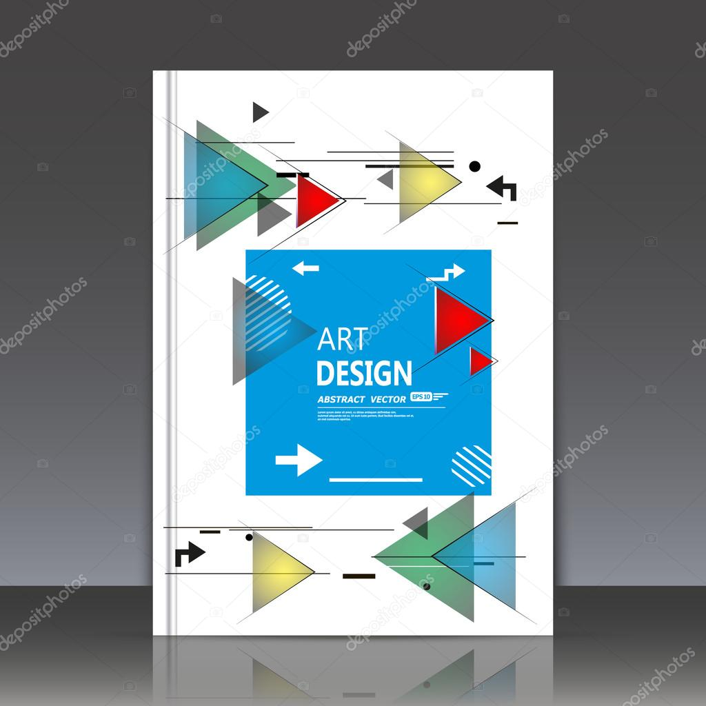 Abstract composition, square text frame surface, white a4 brochure title sheet, creative figure, blue quadrate logo sign construction, firm banner form, triangle icon, flyer fiber, EPS10 illustration