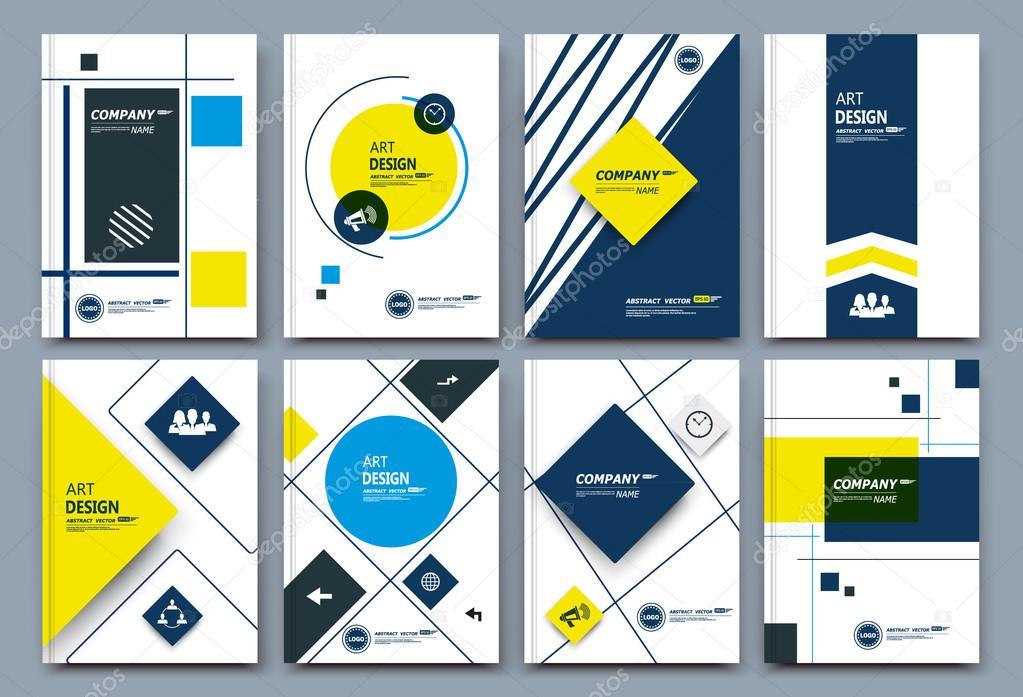 composition, business card set, box block text frame, geometric ...