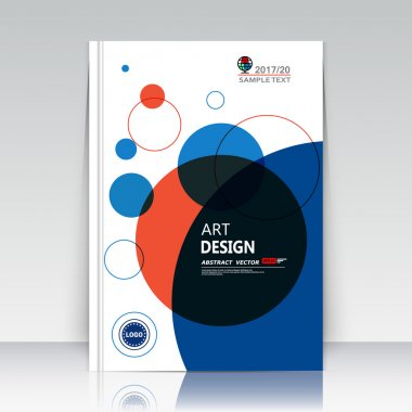 Abstract composition, text frame surface, a4 brochure cover, white title sheet, creative logo figure, banner form font texture, blue round icon label, red bulb flyer fiber, EPS10 backdrop, vector art