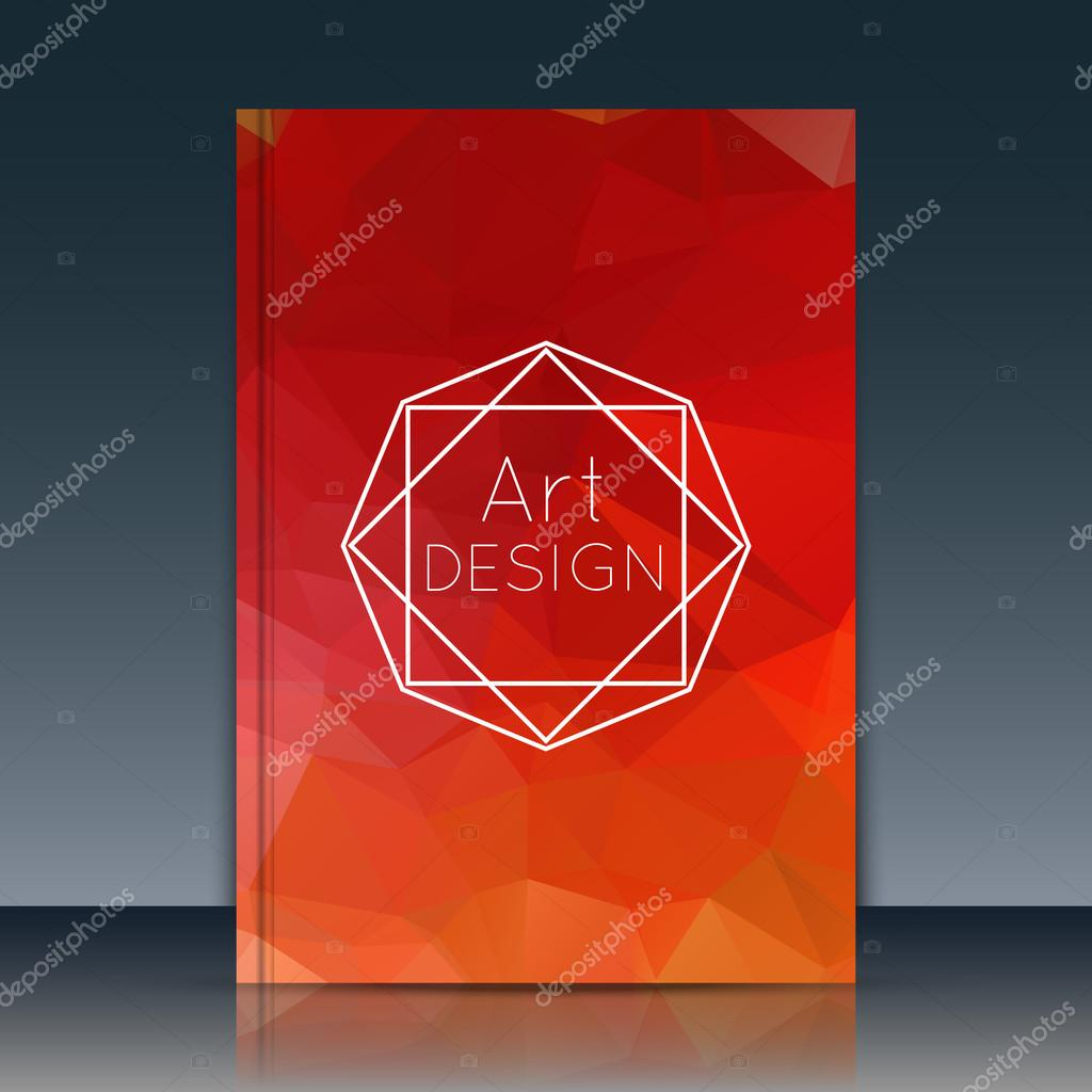 Diary Book Cover Design : Abstract cover annual report vector