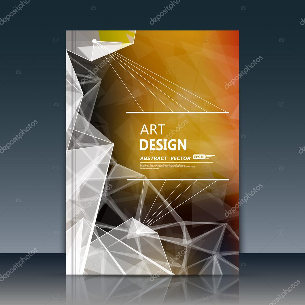 abstract cover  annual report cover  cover vector  cover design  cover art  diary cover  a4
