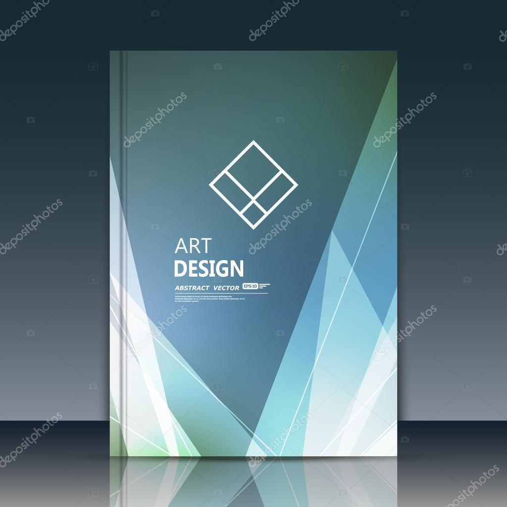 Diary Book Cover Design : Abstract brochure annual report vector