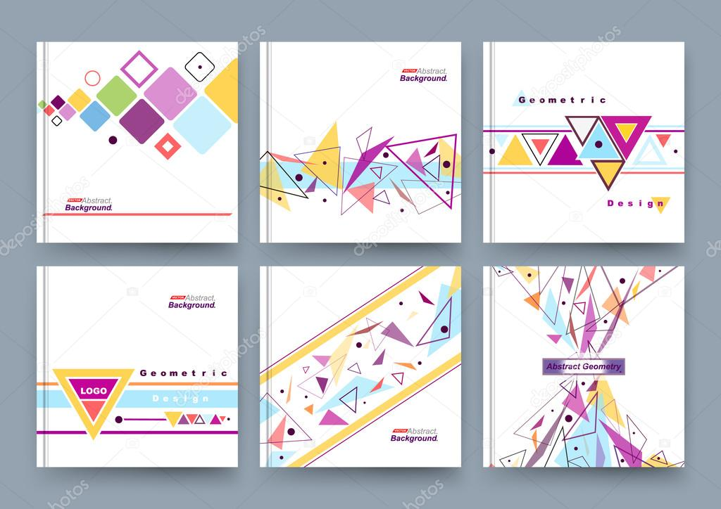Abstract composition business card set info text elegant abstract composition business card set info text elegant geometric shape triangle reheart Gallery