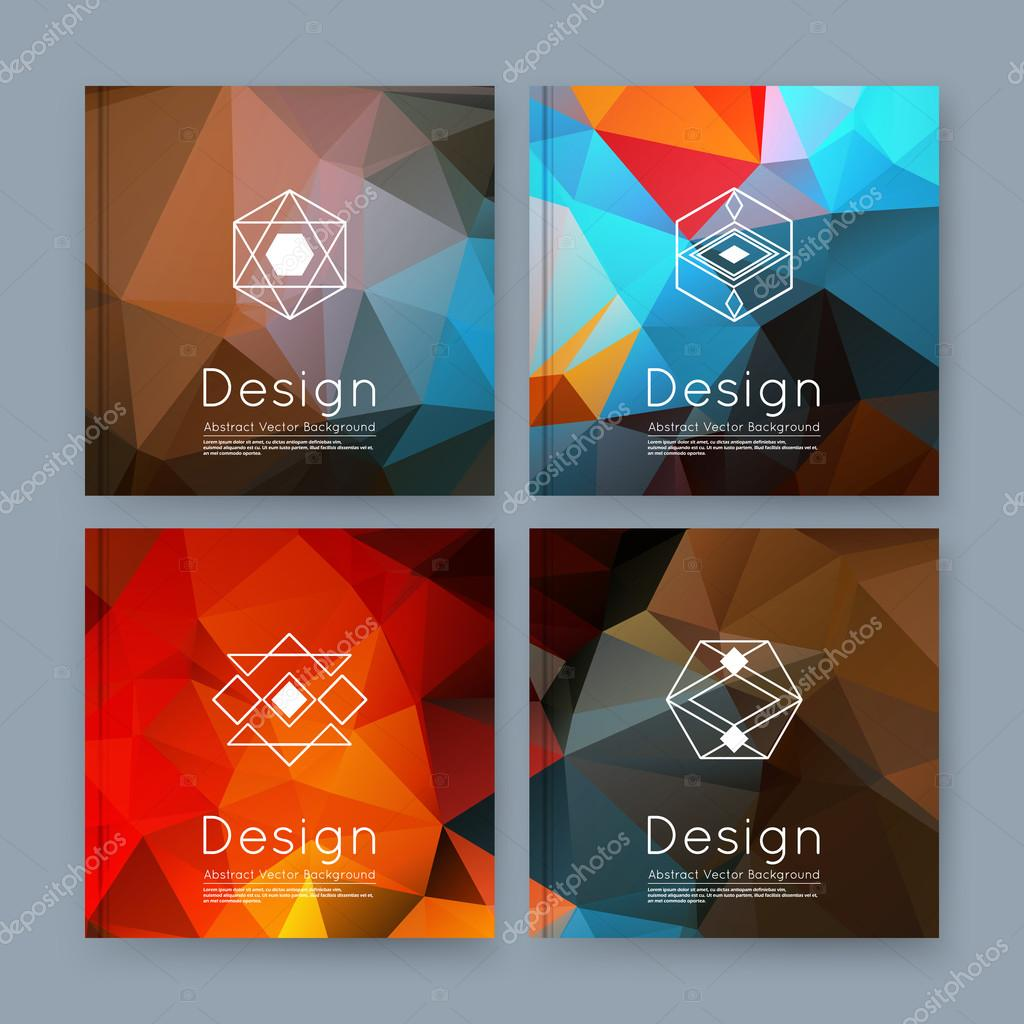 Abstract composition orange blue business card set info text abstract composition orange blue business card set info text elegant geometric font texture brochure title sheet creative figure icon amber crystal reheart Gallery
