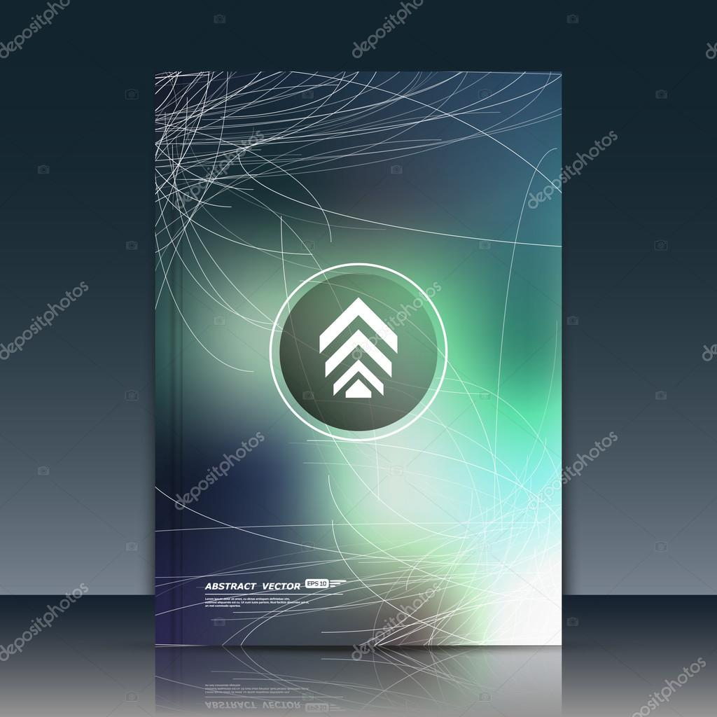 Abstract Composition Text Frame Surface Green A4 Brochure Title