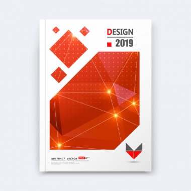 Abstract composition, red perforated font texture, shiny dots, lines construction, light points, a4 brochure title sheet, creative figure icon, commercial logo surface, firm banner form, flier fiber