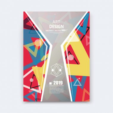 Abstract composition, notebook cover, red triangle font texture, grey part construction, a4 brochure title sheet, creative figure icon, commercial offer, logo surface, banner form, EPS10 flier fiber