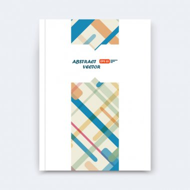 Abstract composition, chequered font texture, stripe section surface, yellow, blue lines construction, a4 brochure title sheet, creative figure vector art, commercial offer, banner form, flyer fiber