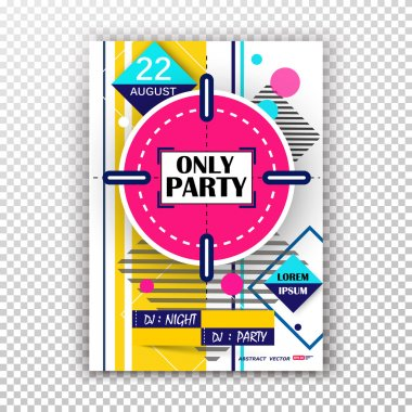 Abstract composition, pink round target texture, night club showbill, party date banner, creative circle figure, concert flyer form, dj rave invitation, evening show leaflet fiber, EPS 10 punch poster