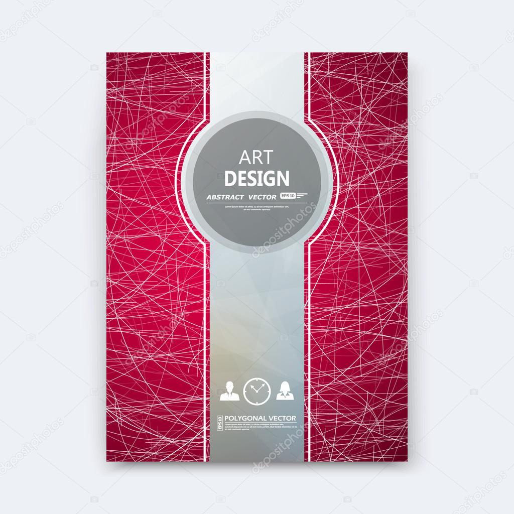 Abstract composition, red font texture, grey stripe section cover surface, white curve lines construction, brochure title sheet, creative figure vector art, commercial offer, banner form, flyer fiber