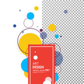 Abstract composition, tessallation font texture, orange, blue patch circle parts construction, bright sphere bubbles, red round text frame, wallpaper, miniature, screen saver, EPS 10 illustration