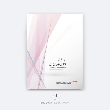 Abstract composition, rosy pastel font texture, stripe section frame surface, lines construction, white a4 brochure title sheet, creative figure vector art, commercial offer, banner form, flyer fiber