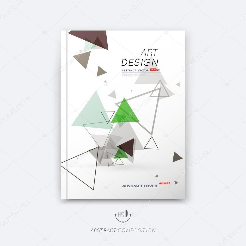 Abstrakte Komposition Dreieckigen Bau Schrift Textur Grün