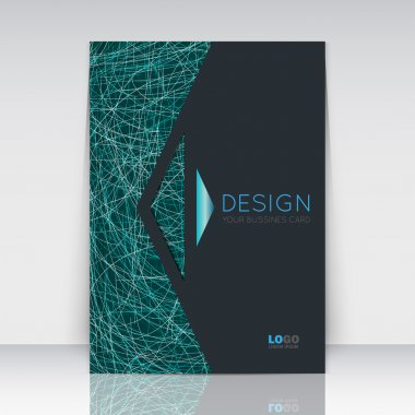 Abstract composition. Turquoise, black font texture. Arrow section trademark. Green curve line construction. Brochure title sheet. Creative figure logo icon. Commercial offer. Banner form. Flyer fiber