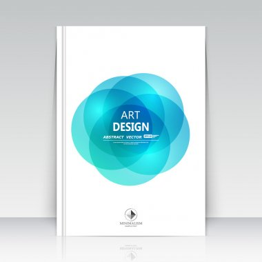 Abstract composition. Text frame surface. A4 brochure cover. White title sheet. Creative logo figure. Ad banner form font texture. Blue round icon label. Bulb flyer fiber. EPS10 backdrop. Vector art