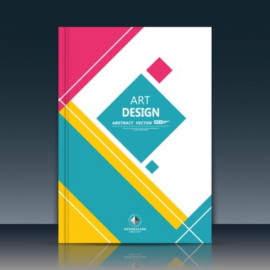 Abstract composition. Text frame surface. A4 brochure cover. White title sheet. Creative logo figure. Ad banner form texture. Blue, red square icon. Box blocks flyer fiber. EPS10 backdrop. Vector art