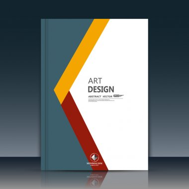 Abstract composition. Grey, white brochure cover. Yellow, red section title sheet. Creative logo figure flyer fiber. Ad banner form texture. Text frame surface. EPS10 label icon backdrop. Vector art