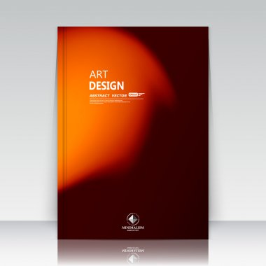 Abstract composition. Text frame surface. Orange a4 brochure title sheet. Alien explosion flash. Creative ad figure. Logo icon. Outer space fire. Banner form. Cosmic flier fashion. EPS 10 vector image