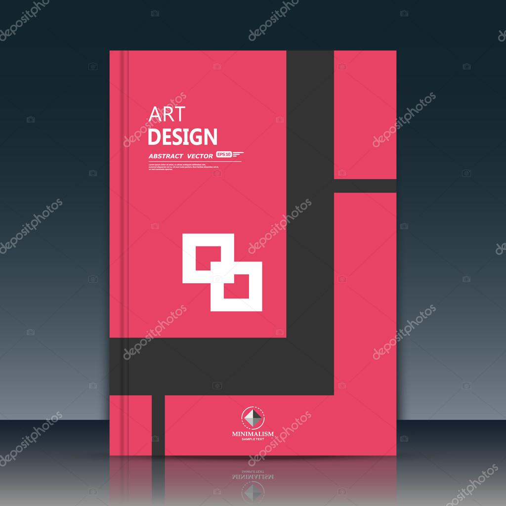 Abstract composition. Text frame surface. A4 brochure cover. Red title sheet. Creative logo figure. Ad banner form texture. Black, white square icon. Box block flyer fiber. EPS10 backdrop. Vector art