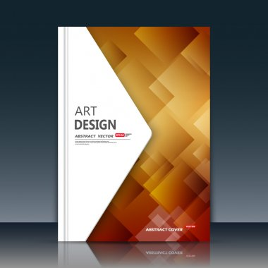 Abstract composition. Yellow amber construction. White triangle section trademark. A4 brochure title sheet. Creative figure logo icon. Commercial offer banner form. Ad flyer fiber. Headline element.