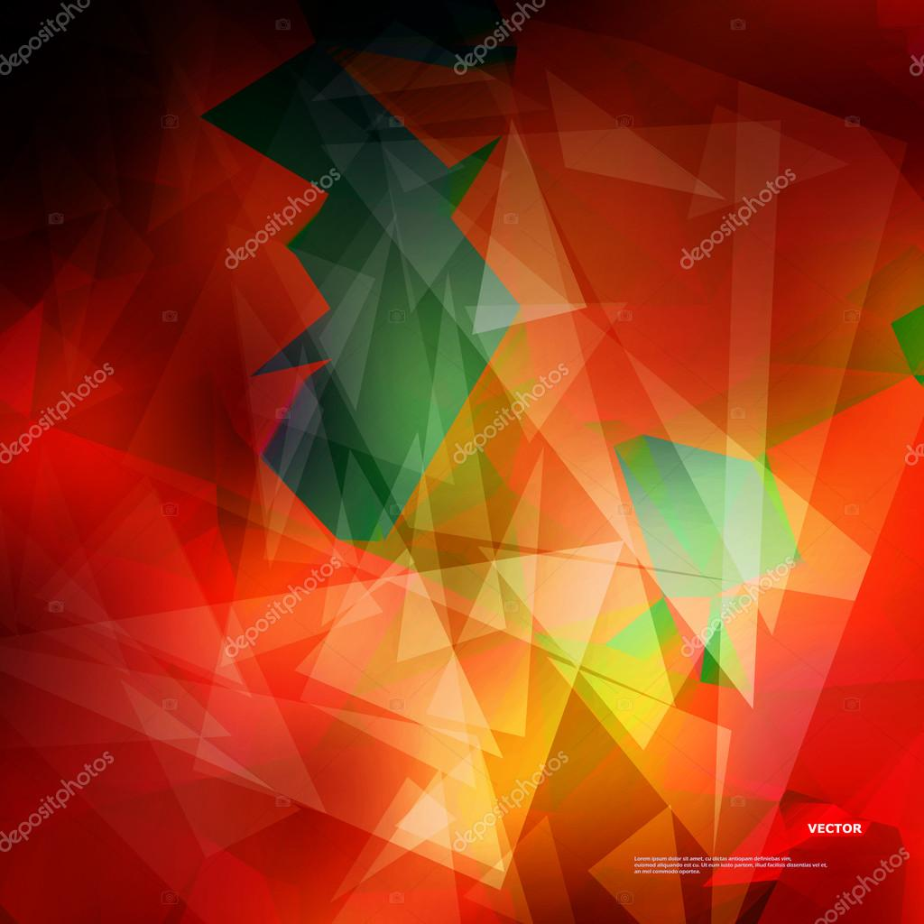 Abstract Composition Text Frame Surface Red Green Yellow