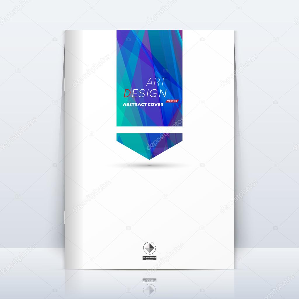 Abstract composition. Blue polygonal construction. Square section trademark. White a4 brochure title sheet. Creative figure logo icon. Commercial offer banner form. Flyer fiber. Headline element