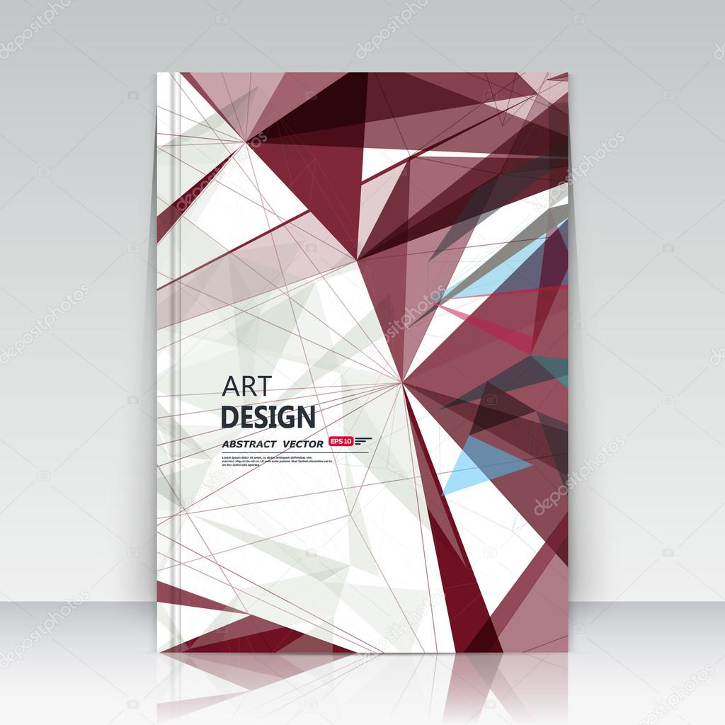 Creative Design To Cover Notebook ~ Abstract blurb theme. text frame surface. a4 brochure cover design