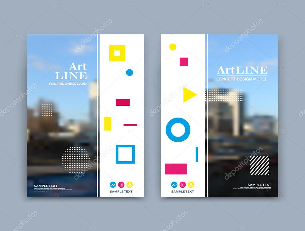 Creative Design To Cover Notebook ~ Abstract a4 brochure cover design. art text frame surface. urban