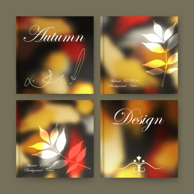 Abstract composition. Eco text frame surface. Patch brochure cover design. Title sheet model set. Yellow leaf fall icon. Creative vector front page. Natural ad banner form texture. Flyer fiber font