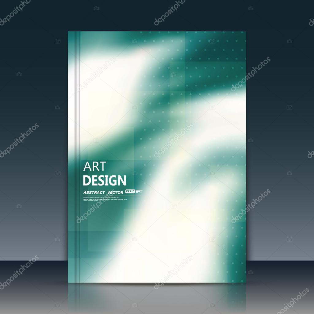 abstract composition text frame surface green a4 brochure cover