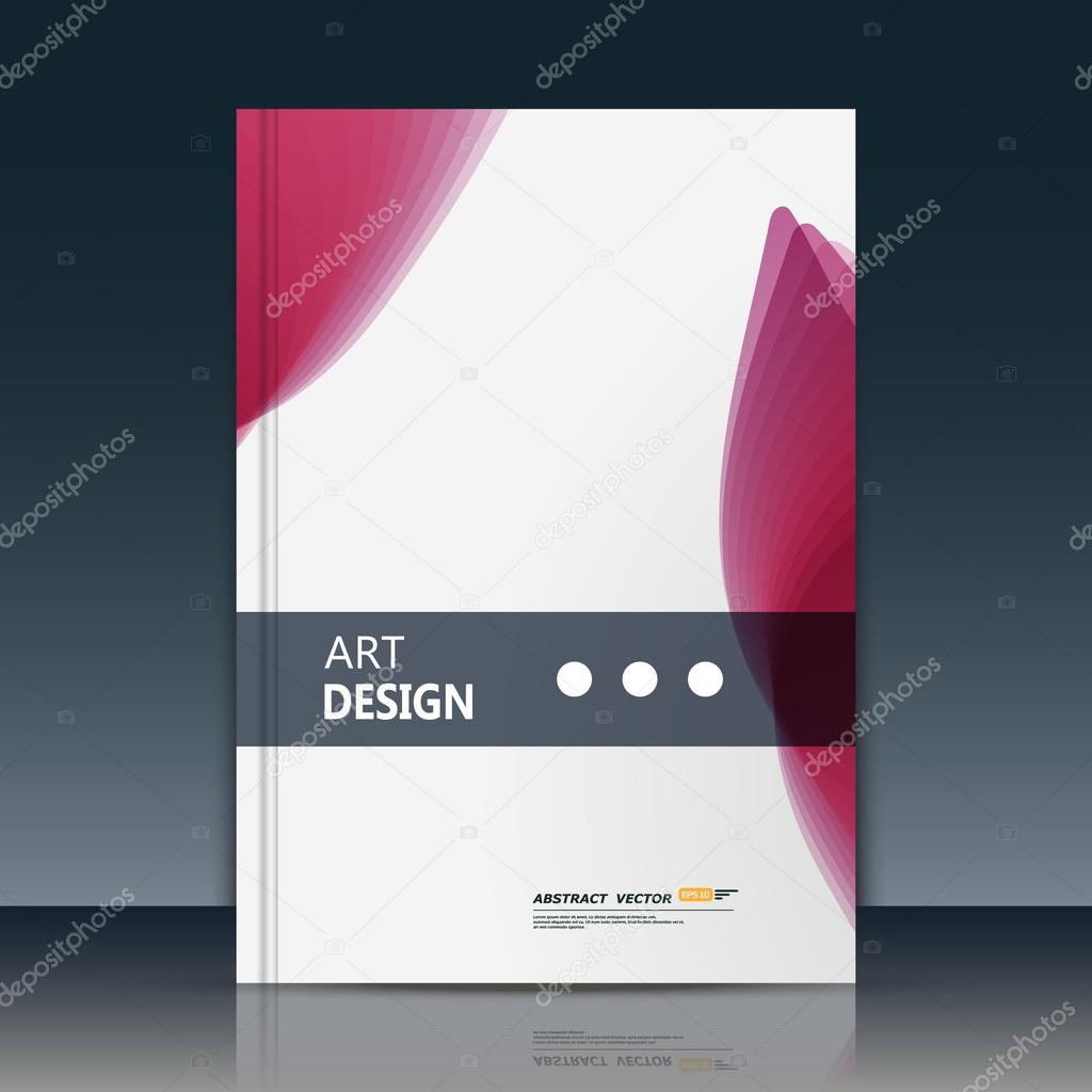 Text Frame Surface White A4 Brochure Cover Design Title Sheet Model Creative Front Page Art Ad Banner Form Texture Simple Vector Red Oval Parts Figure