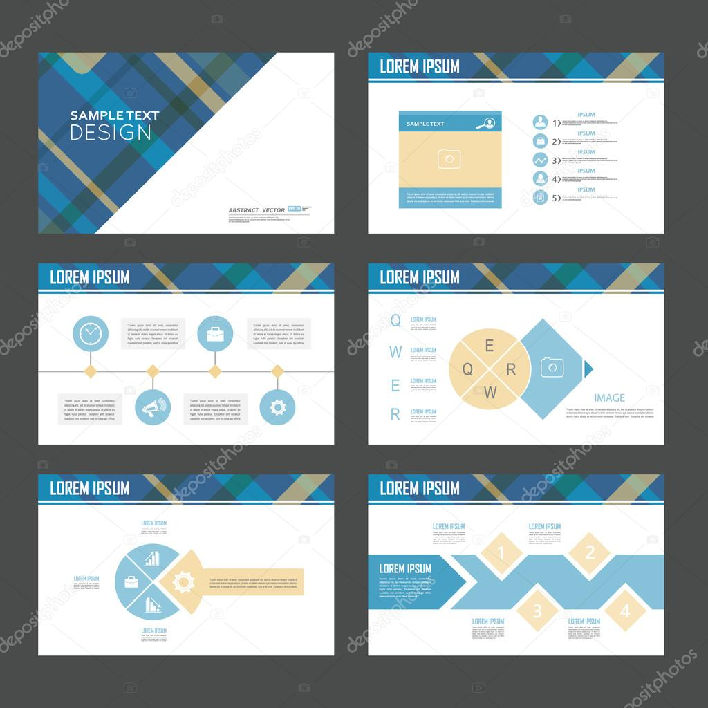 abstract composition infographic elements set creative