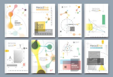 Abstract composition. Math science text frame surface. A4 brochure cover design. Title sheet model set. Patch geometric shapes icon. Modern vector front page. Ad banner form texture. Flier fiber font