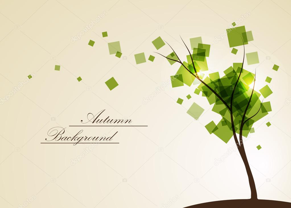 Abstract composition, tree-branch isolated, square flying leaves, botanical carving, biological capture, eco protect icon, natural ecologic image, plant font, wallpaper, screen saver, startup display, seasonal sale discount event, fancy flier, EPS10