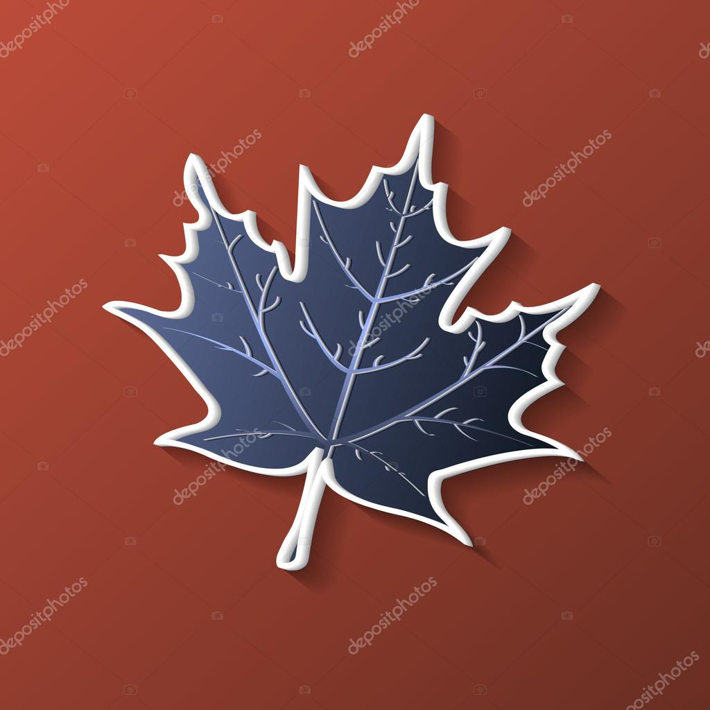Abstract composition, maple-leaf isolated, canadian symbol, botanical carving, biological capture, eco protect icon, natural ecologic image, maple plant, brown beige font, wallpaper, screen saver, startup display, sale event fancy flier, EPS10