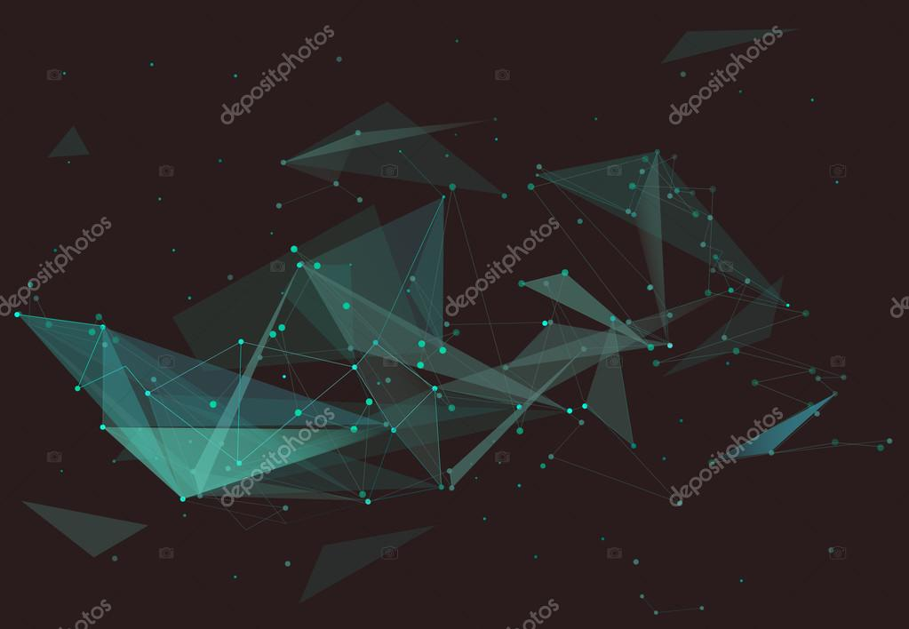 Abstract composition, emerald diamond facets, crystal faces, turquoise dots, lines startup display, green polygonal backdrop surface, space sky wallpaper, fancy screen saver, shining stars capture, brisht light rays, web site font, EPS10 illustration